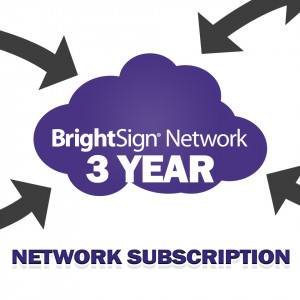 BRIGHTSIGN 3 Year BrightSign Network Subscription for a singl